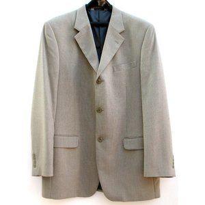 Jones New York Vintage Sport Coat Tan Check Sz L42